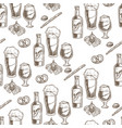 beer poured in glass alcoholic beverage and vector image vector image