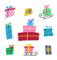 big collections colorful gifts box gift icons in vector image vector image