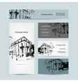 Business card urban design Street of Barcelona vector image
