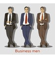 Business men set vector image vector image