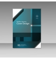Business report square and geometric cover vector image