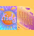 children playground banner set cartoon style vector image vector image