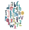 Children s font in the creative abstract style