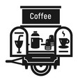 coffee trailer icon simple style vector image