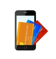 credit card with phone vector image