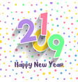 cute happy new year design vector image vector image