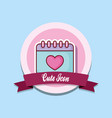 cute icon design vector image