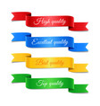 decorative arrow ribbons with text set vector image vector image