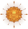 Decorative sun emblem vector image