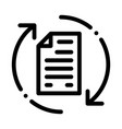 document cycle icon outline vector image