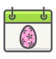 easter calendar filled outline icon easter vector image vector image