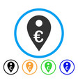 euro map marker rounded icon vector image vector image