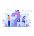 faq frequently asked questions web design vector image