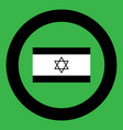 flag of israel icon black color in circle vector image vector image