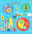 flat design concept science and technology vector image vector image
