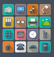 flat icons with long shadow vector image vector image