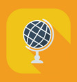 flat modern design with shadow icon globe vector image vector image