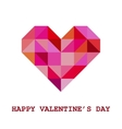 Geometric Valentine Greeting Card vector image vector image