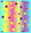 glowing geometric pattern seamless background vector image