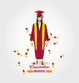 graduate woman avatar character vector image vector image
