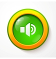Green glass sound button vector image vector image