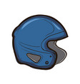 hockey helmet isolated equipment for player vector image
