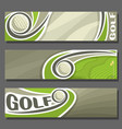 horizontal banners for golf vector image vector image