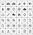 Internet web icon pack on white vector image vector image