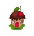 miniature fantasy house in form of sweet cupcake vector image vector image
