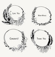 monochrome set of tropical wreaths exotic vector image vector image