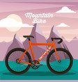 mountain bike sport natural landscape vector image vector image