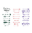 multicolored set arrows infographic elements vector image vector image