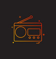 multimedia radio radio station retro technology vector image