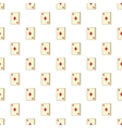 Playing card diamonds pattern cartoon style vector image