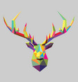 polygonal stag head vector image