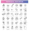 preschool education kids development vector image