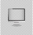 realistic mockup computer monitor with digital vector image