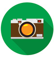 retro camera flat icon vector image