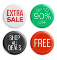 sale buttons sale bag tag icons shopping vector image vector image