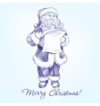 Santa Claus hand drawn llustration sketch vector image vector image