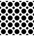 seamless black and white polkadot pattern vector image vector image