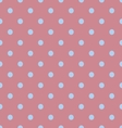 Seamless polka dot red pattern with circles vector image vector image