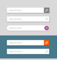 search bar element design set web vector image