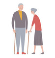 set old people isolated on a white background vector image vector image