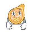 silent chicken coxinha in shape a cartoon vector image vector image