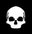 simple skull in full face vector image vector image