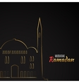 Single flat icon of Mosque isolated on black vector image vector image