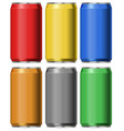 six colors of cans without labels vector image vector image