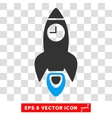 Space Rocket Time Eps Icon vector image vector image