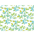 Tender spring foliage seamless pattern in hand